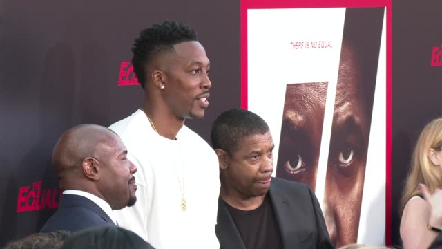Antoine Fuqua Dwight Howard and Denzel Washington at the 'The Equalizer 2' Premiere at TCL Chinese Theatre on July 17 2018 in Hollywood California