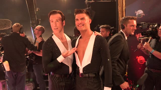 anton du beke at strictly come dancing at elstree studios on september 03 2013 in borehamwood england - ハートフォードシャー点の映像素材/bロール