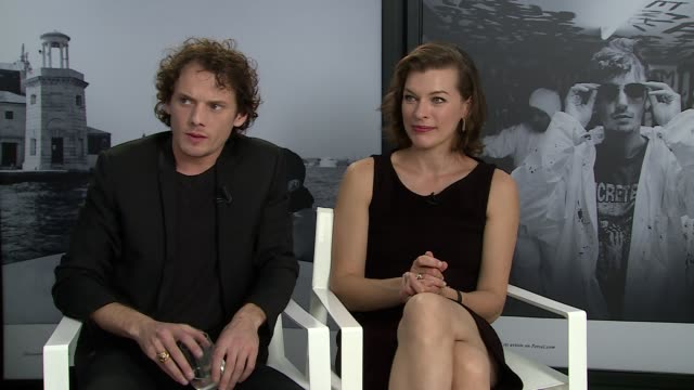 interview anton yelchin milla jovovich family dynamics and relationship between the characters at 'cymbeline' interviews 71st venice international... - dynamics stock videos and b-roll footage