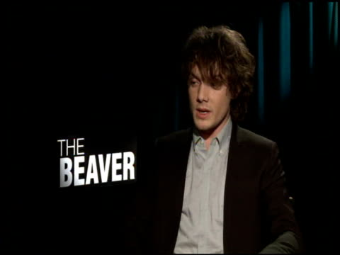 anton yelchin on working with mel gibson and jodie foster at the 'the beaver' junker at los angeles ca - mel gibson stock videos and b-roll footage