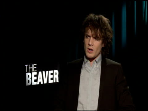 anton yelchin on working with mel gibson at the 'the beaver' junker at los angeles ca - mel gibson stock videos and b-roll footage