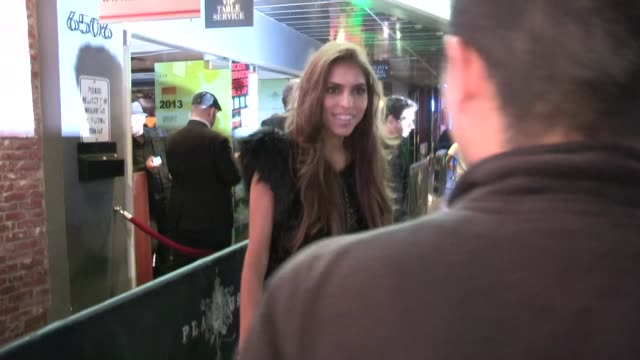antonella barba greets a fan while departing playhouse in hollywood 04/04/13 - playhouse stock videos and b-roll footage