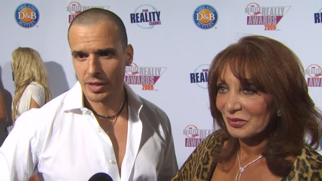 antonia sabato, jr. and his mother, yvonne on his show, 'my antonio'. at the 2009 fox reality channel really awards at los angeles ca. - antonio sabato jr. stock videos & royalty-free footage