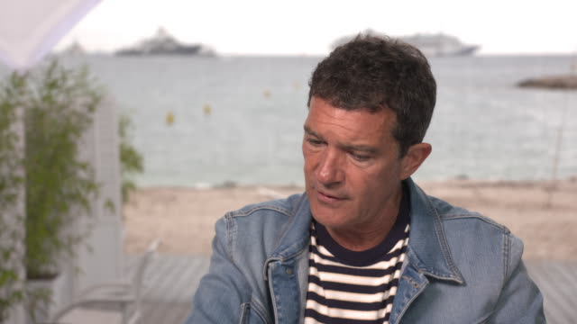 interview antonio banderas actor on being more creative later in life and how nearly dying changed him on may 18 2019 in cannes france - antonio banderas stock videos & royalty-free footage