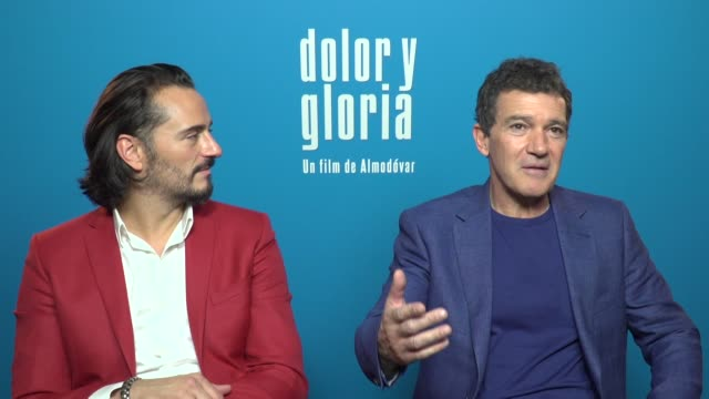 Antonio Banderas and Asier Etxeandia talk about 'Dolor y Gloria' starring by them and Penélope Cruz and directed by Pedro Almodóvar