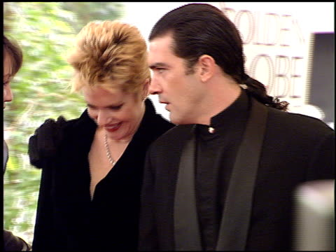 antonio banderas at the 1996 golden globe awards at the beverly hilton in beverly hills california on january 21 1996 - 1996 stock videos & royalty-free footage