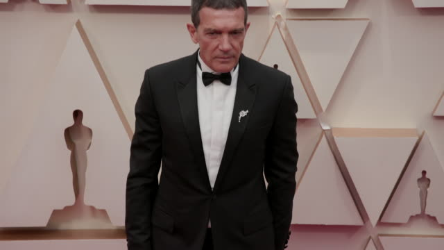 antonio banderas at the 92nd annual academy awards arrivals on february 09 2020 in hollywood california - antonio banderas stock videos & royalty-free footage