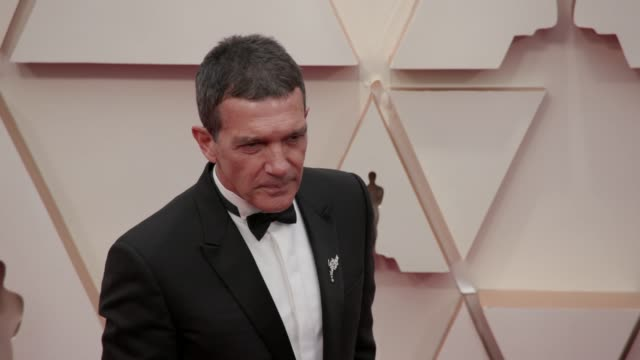 antonio banderas at the 92nd annual academy awards at dolby theatre on february 09 2020 in hollywood california - antonio banderas stock videos & royalty-free footage