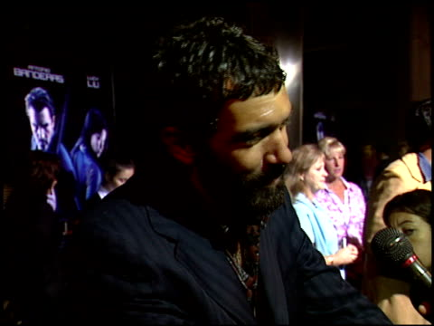 antonio banderas at the 'ballistic ecks vs sever' premiere at the cinerama dome at arclight cinemas in hollywood california on september 18 2002 - arclight cinemas hollywood stock videos and b-roll footage