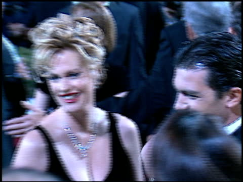 antonio banderas at the 'evita' premiere at the shrine auditorium in los angeles, california on december 14, 1996. - shrine auditorium stock videos & royalty-free footage