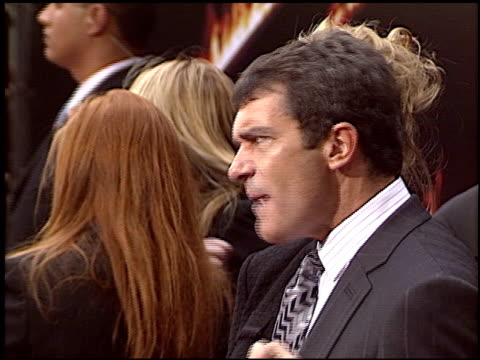 Antonio Banderas at the Premiere of 'The Legend of Zorro' at Orpheum in Los Angeles California on October 16 2005