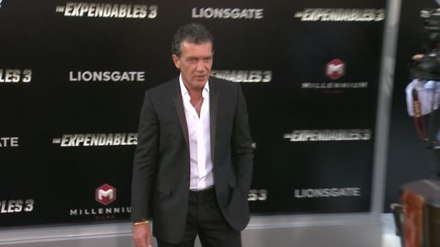 antonio banderas at the the expendables 3 los angeles premiere at tcl chinese theatre on august 11 2014 in hollywood california - antonio banderas stock videos & royalty-free footage