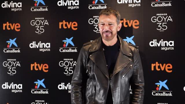 antonio banderas attends '35th goya awards' press conference at cinema academy on february 02, 2021 in madrid, spain. - antonio banderas video stock e b–roll