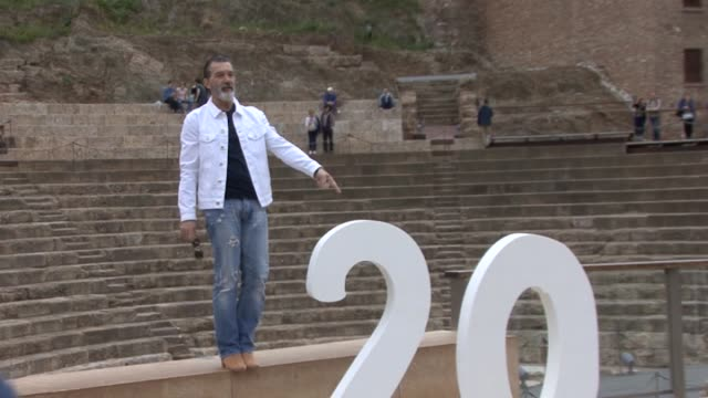 Antonio Banderas attends photocall during of the 20th Malaga Film Festival