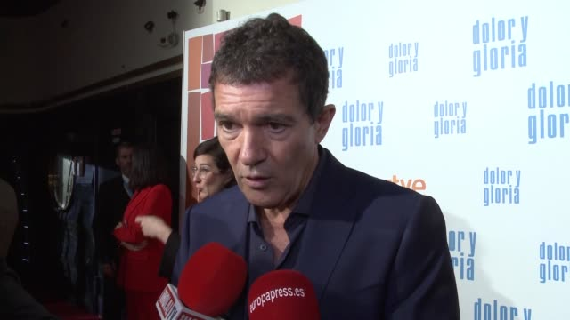 Antonio Banderas Attends Premiere of Dolor y Gloria Movie by Pedro Almodovar