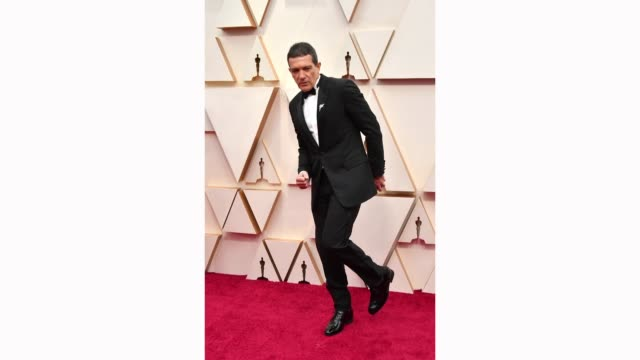 antonio banderas attends the 92nd annual academy awards at hollywood and highland on february 9 2020 in hollywood california - academy of motion picture arts and sciences stock videos & royalty-free footage