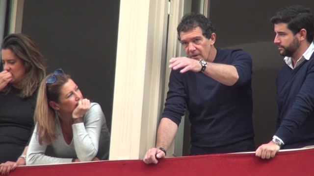 antonio banderas attends the processions in málaga for holy week - holy week stock videos & royalty-free footage