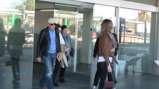 Antonio Banderas his daughter Stella del Carmen Banderas and his girlfriend Nicole Kimpel are seen in Barcelona