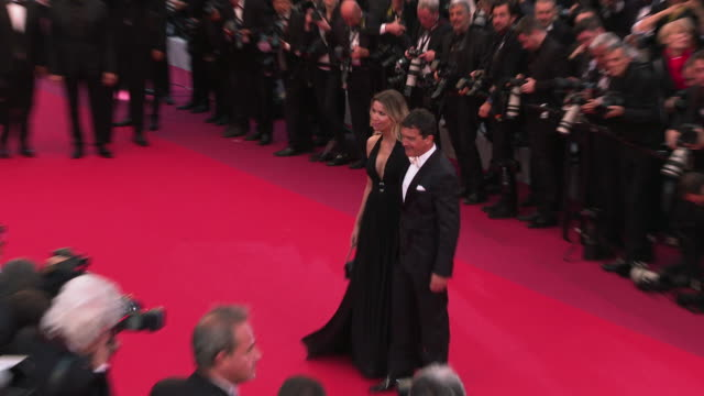 antonio banderas nicole kimpel at 'pain glory ' red carpet arrivals the 72nd cannes film festival on may 17 2019 in cannes france - antonio banderas stock videos & royalty-free footage