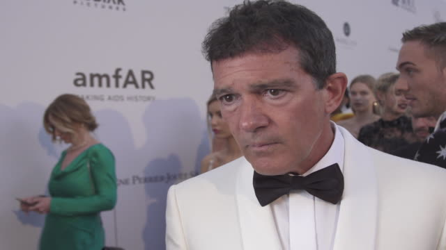 INTERVIEW Antonio Banderas on all the good that comes from the amfAR event at the amfAR Cannes Gala 2019 Arrivals at Hotel du CapEdenRoc on May 23...