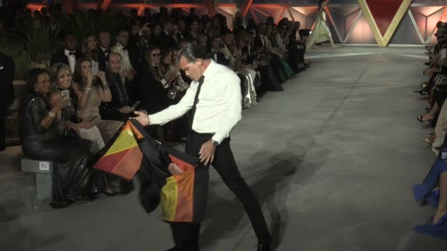 antonio banderas on the runway of fashion for relief in cannes cannes france on sunday may 21 2017 - antonio banderas stock videos & royalty-free footage