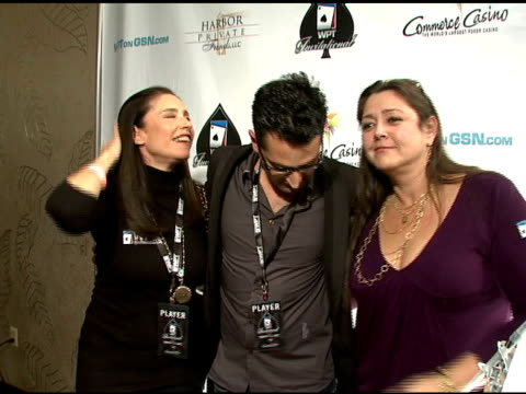 antonio esfandiari and camryn manheim at the 6th annual world poker tour at the commerce casino in los angeles, california on march 2, 2008. - camryn manheim stock videos & royalty-free footage