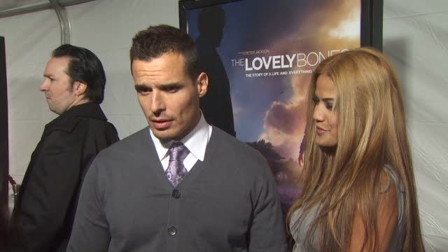antonio sabato jr. and cheryl moana marie at the 'the lovely bones' premiere at hollywood ca. - antonio sabato jr. stock videos & royalty-free footage
