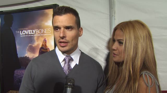 antonio sabato jr. and cheryl moana marie on attending tonight's premier, on if they've read the book, on peter jackson's adaptation of the book, and... - antonio sabato jr. stock videos & royalty-free footage