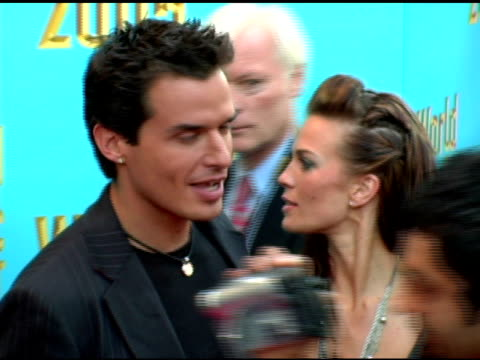antonio sabato jr and guest at the 2005 world music awards arrivals at the kodak theatre in hollywood, california on september 1, 2005. - antonio sabato jr. stock videos & royalty-free footage