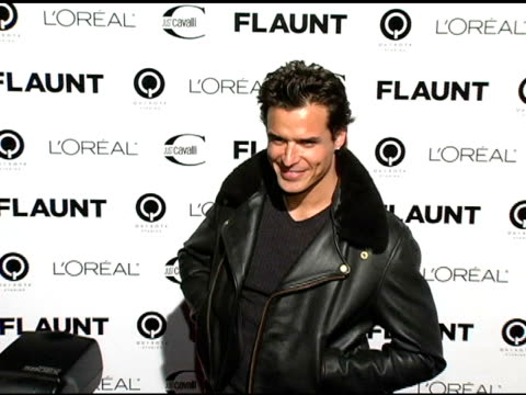 antonio sabato jr at the flaunt magazine's 6th year anniversary party hosted by just cavalli at private residence in los angeles, california on... - antonio sabato jr. stock videos & royalty-free footage