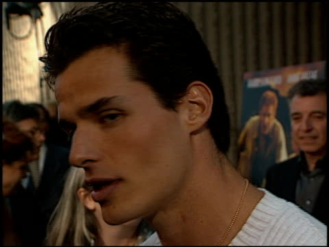 antonio sabato jr at the 'six days, seven nights' premiere at academy theater in beverly hills, california on june 8, 1998. - antonio sabato jr. stock videos & royalty-free footage