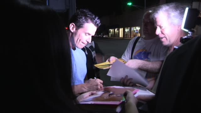 antonio sabato jr. greets fans while arriving for the dwts after party at crustacean in beverly hills in celebrity sightings in los angeles, - antonio sabato jr. stock videos & royalty-free footage