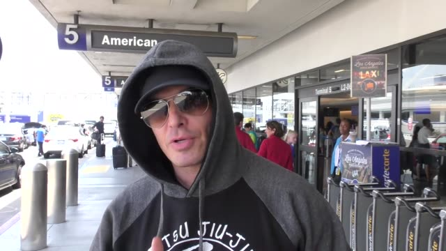 antonio sabato jr. talks about why people should support donald trump while arriving at lax airport in los angeles in celebrity sightings in los... - antonio sabato jr. stock videos & royalty-free footage