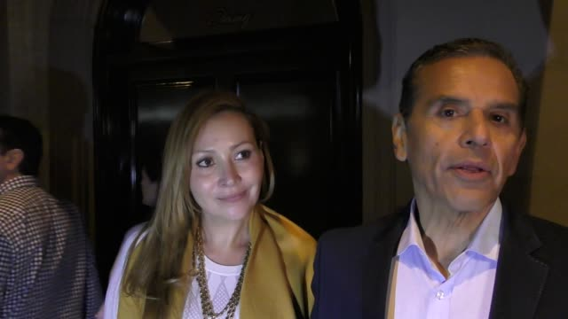 interview antonio villaraigosa talks about the los angeles dodgers outside craig's restaurant in west hollywood in celebrity sightings in los angeles - antonio villaraigosa stock videos and b-roll footage