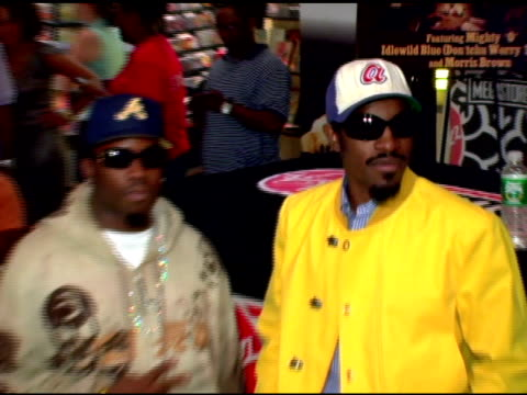 Antwan 'Big Boi' Patton and Andre '3000' Benjamin of Outkast at the Outkast Album Signing at Virgin Megastore Times Square in New York New York on...