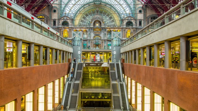 antwerp central railway station. - station stock videos & royalty-free footage