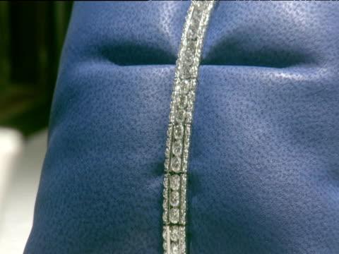 Antwerp diamond encrusted bracelet on display