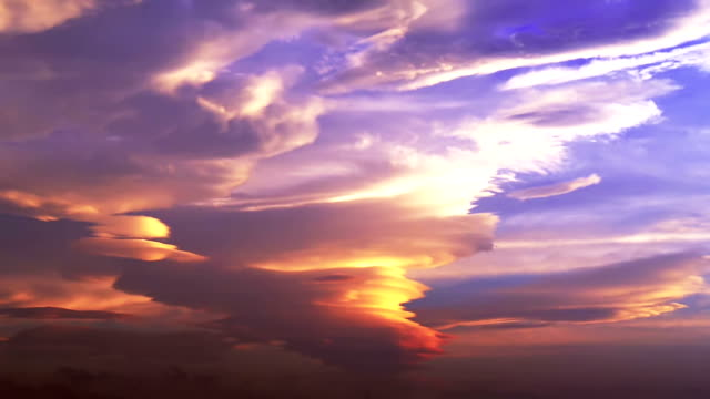 Anvil (incus) cloud in sunset sky