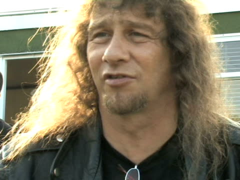 anvil lips on how things have changed because of the movie at the download festival 2009 at derby england - bocca umana video stock e b–roll