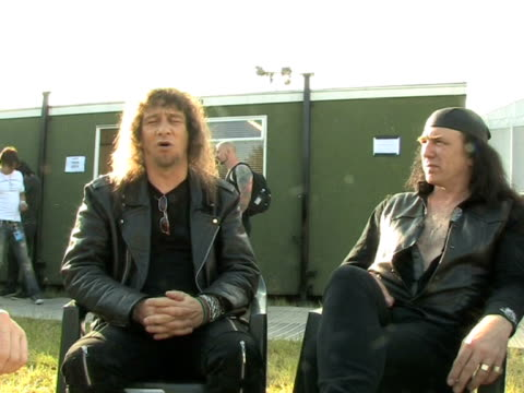 vidéos et rushes de anvil lips on what it means to be playing download festival and how england is the homeland of hard rock music at the download festival 2009 at derby... - rock moderne