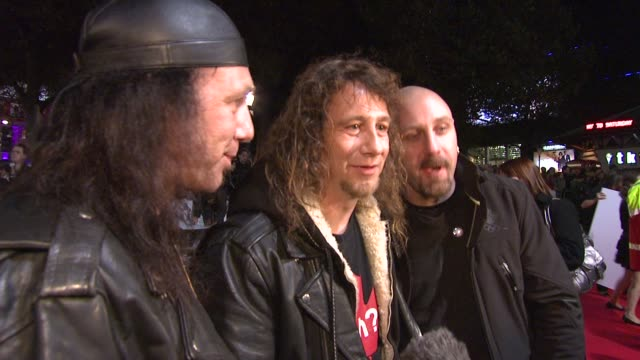 anvil on being at their premiere never giving up on their dream and not compromising to get recognition at the london film festival anvil the story... - anvil the story of anvil stock videos and b-roll footage