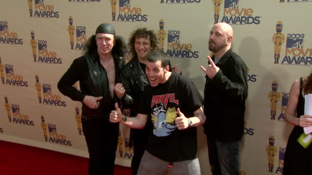 anvil stevo at the 18th annual mtv movie awards at universal city ca - universal city video stock e b–roll