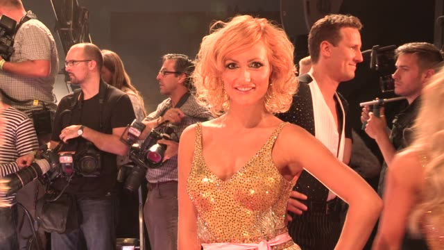 anya garnis at strictly come dancing at elstree studios on september 03 2013 in borehamwood england - ハートフォードシャー点の映像素材/bロール