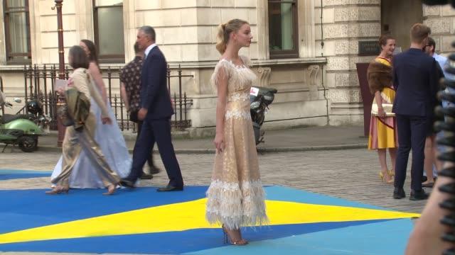 anya taylor joy david bailey at royal academy of arts on june 06 2018 in london england - royal academy of arts stock videos & royalty-free footage