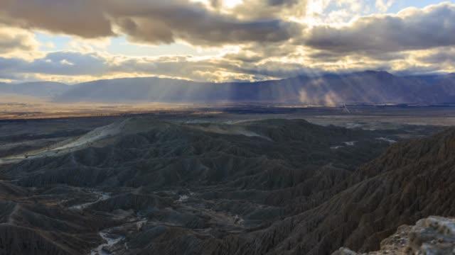 anza-borrego desert god rays timelapse - god stock videos and b-roll footage