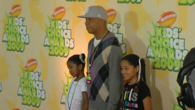 Aoki Lee Simmons Russell Simmons and Ming Lee Simmons at the Nickelodeon's 22nd Annual Kids' Choice Awards at Los Angeles CA