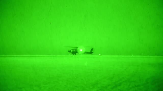 apache helicopters assigned to task force viper 1st battalion 3rd aviation regiment 12th combat aviation brigade return from training at inowroclaw... - night vision stock-videos und b-roll-filmmaterial