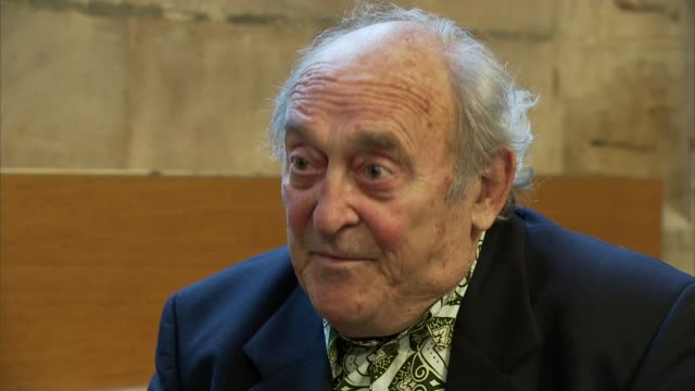 Apartheid campaigners given Freedom of the City of London ENGLAND London City of London Guildhall INT Denis Goldberg interview SOT Talks of seeing...