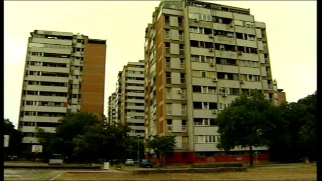 apartment block where karadzic lived beside block where ratko mladic also lived - ratko mladic stock videos & royalty-free footage