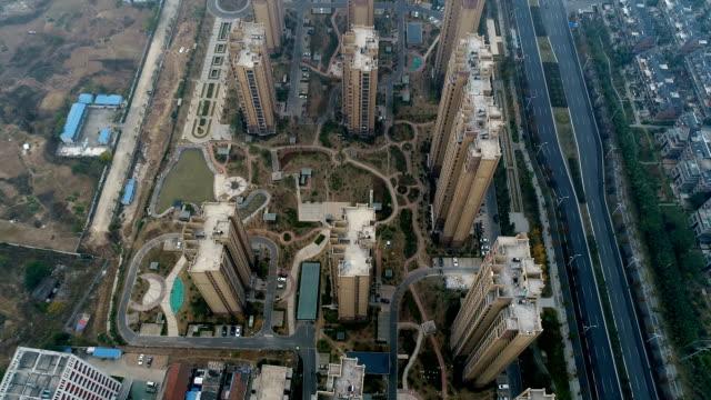 Apartment Buildings Aerial View